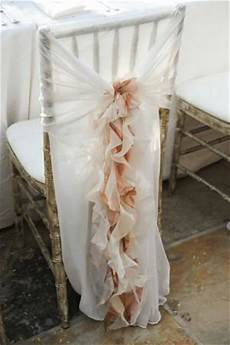 peach wedding ruffled wedding chair covers and sashes 791422 weddbook