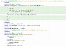 java how to change values of html form elements with