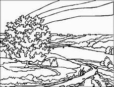 Malvorlagen Landschaften Gratis Bilder Baum Mit Bruecke Ausmalbild Malvorlage Landschaften