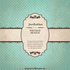invitation card template vintage vintage invitation template vector free
