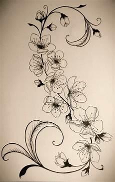 Sketch Tattoos Tattoos Branch Flower Vine Tattoos