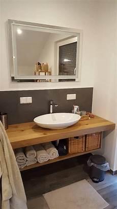 badezimmer holz waschtisch waschtisch platte brett konsole baumkante massiv holz