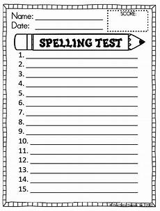 free spelling test template one degree