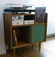 meuble platine vinyle vintage meuble hi fi lignes 50 s atelier monsieur madame
