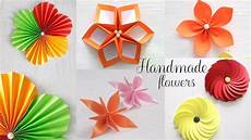 5 Easy Paper Flowers Diy Paper Folding
