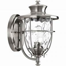 progress lighting beacon collection 1 light stainless steel 12 9 in outdoor wall lantern p6026