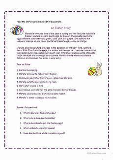 an easter story worksheet free esl printable worksheets made by teachers