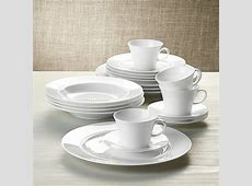White Pearl 20 Piece Dinnerware Set   Crate and Barrel