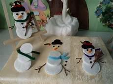 activite enfant pas cher fabriquer un bonhomme de neige avec des disques de coton