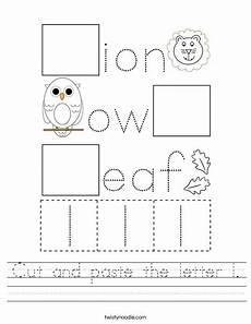 letter l worksheets cut and paste 23203 cut and paste the letter l worksheet twisty noodle