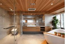 Badezimmer Ideen Holz - 20 wooden ceilings bathroom ideas housely