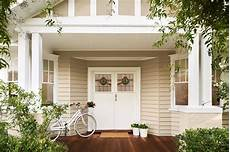 quot here soft brown dulux hog bristle blends beautifully with the lush green of the garden