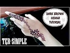 Simple Henna Tutorial Untuk Lebaran Brown Henna