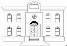 Gratis Malvorlagen Haus Haus Mit Uhr Ausmalbild Malvorlage Sonstiges