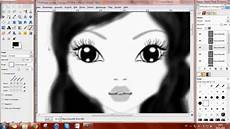 gimp speedpainting 01 top model 1 0