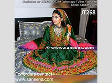 Afghani Dress In Green Color Muslim Wedding Dresses