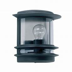 endon yg 5500 cambridge black outdoor flush mounted wall light