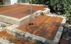 terrassen ideen aus holz holzterrasse hochbett garten landschaftsbau garten