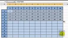 la table de multiplication excel 2007 t a cr 233 er une table de multiplication