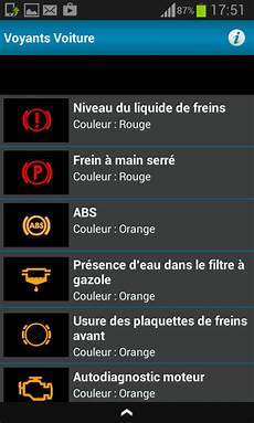 voyant voiture orange signification tous les voyants voiture android apps on play