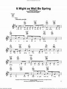 hammerstein it might as well be spring sheet music for ukulele