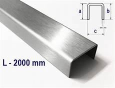 U Profil Stahl - u profile made of stainless steel 2 fold edged surface