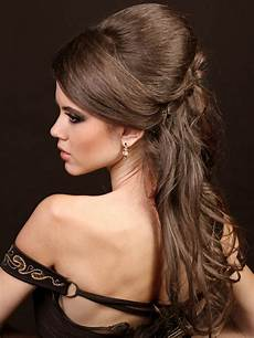 formal hairstyles for long hair to the side