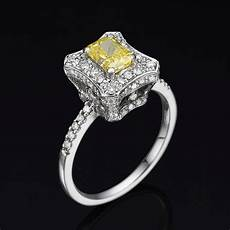 diamond ring 1 12 ct fancy canary yellow radiant vs1
