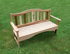 cedar holy cross garden bench cedar bench outdoor bench