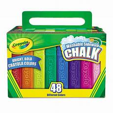 Amazon Com Washable Sidewalk Chalk 48 Assorted Bright Crayola 194 174 Washable Sidewalk Chalk 48 Assorted Bright