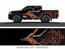 Truck Graphic Abstract Modern Lines Design For