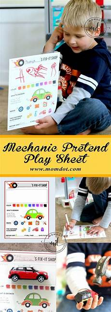 worksheets preschool 15524 mechanic pretend play sheet free printable craft free crafts for pretend play