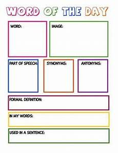 free vocabulary graphic organizer i love teaching