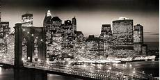15 best collection of new york skyline canvas black and white wall art