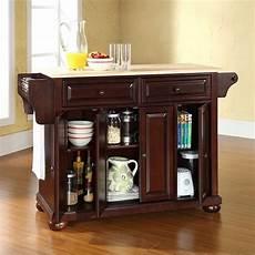 crosley furniture kitchen island crosley furniture alexandria wood top kitchen