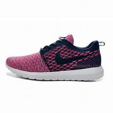 womens nike flyknit roshe run shoes pink navy white price