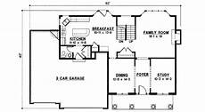 2700 square foot house plans southern style house plan 4 beds 3 baths 2700 sq ft plan