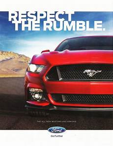 2016 Ford Mustang Ad Respect The Rumble Ford Mustang