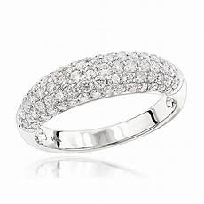 unique diamond wedding band for 14k gold pave