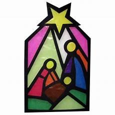 Fensterbilder Vorlagen Weihnachten Krippe Bastelset Fensterbild Krippe 8teilig Basteln