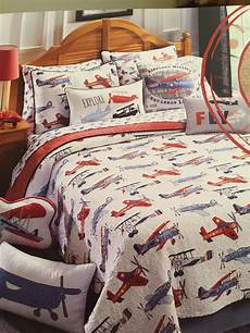 new sky hawk vintage airplane 5pc twin size quilt sheets