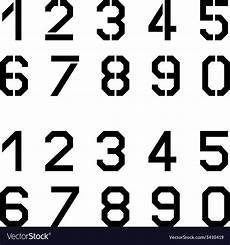 stencil angular font numbers royalty free vector image