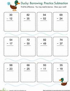 subtraction with regrouping practice worksheet