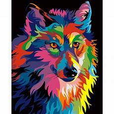 malen nach zahlen bunter wolf malen nach zahlen eu