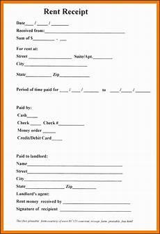 5 blank rent receipt template sletemplatess