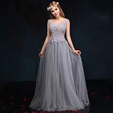 Abendkleider Lang Grau T 252 Ll Abendkleid Mit Spitze