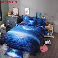 2016 3d galaxy bedding sets universe outer space themed bedspread 4pcs queen size bed