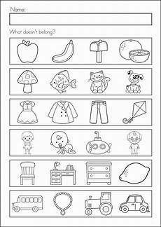 prep class worksheets for assessment learning printable