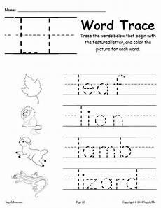 printable worksheets for letter l 24565 letter l words free alphabet tracing worksheet supplyme