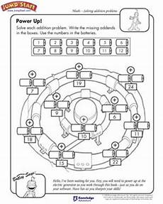 power up addition worksheets and problems for kids